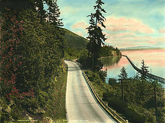 Chuckanut Drive vicinity of Bellingham Bay, Wa...