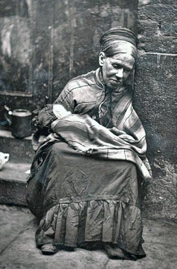 destitute mother child